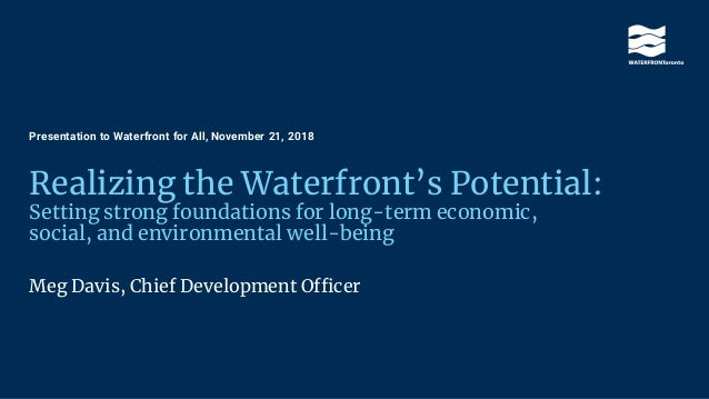 Realizing the Waterfront's Potential: Setting strong foundations for long-term economic, social, and environmental well-be...