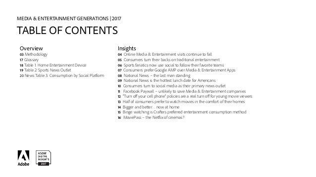 ADI Media & Entertainment Generations Report -- 2017 Slide 2