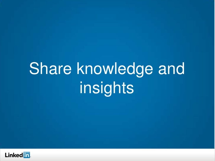 LinkedIn Today: Nonprofit Section Information you need to  know From your trusted  network (share and  comment) To make...