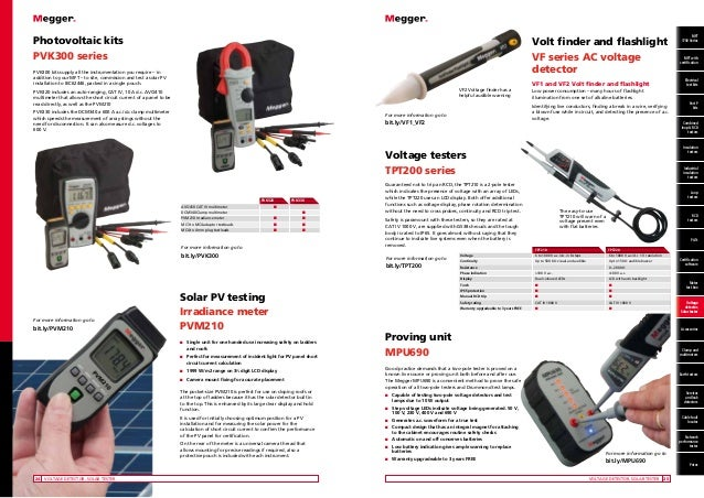 Electrical Testing Instruments : Megger electrical testing instruments cable fault