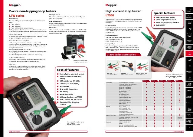 Megger Electrical Testing Instruments Cable Fault Locators High Vo
