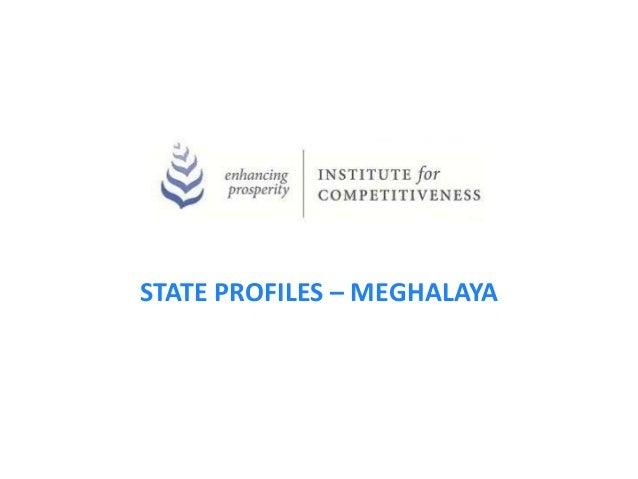 STATE PROFILES – MEGHALAYA