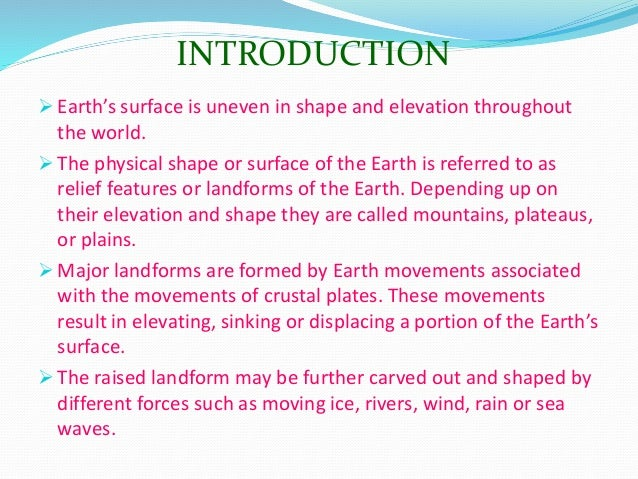 Major Relief Features Of the Earth