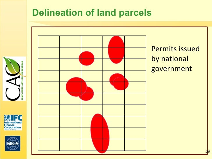 Delineation of land parcels                          Permits issued                          by national                  ...