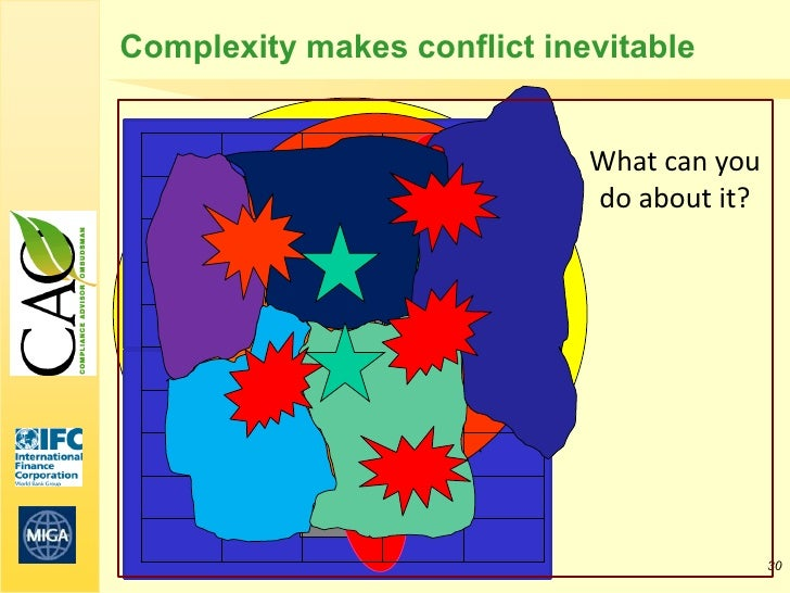 Complexity makes conflict inevitable                             What can you                             do about it?    ...