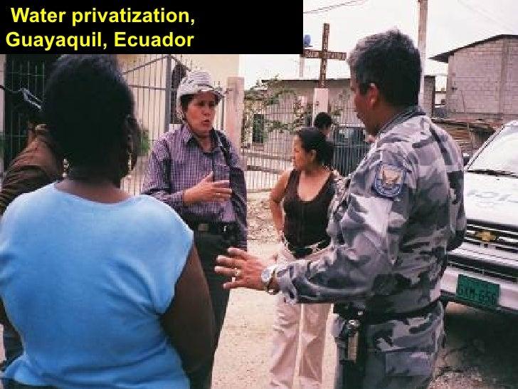 Water privatization,Guayaquil, Ecuador