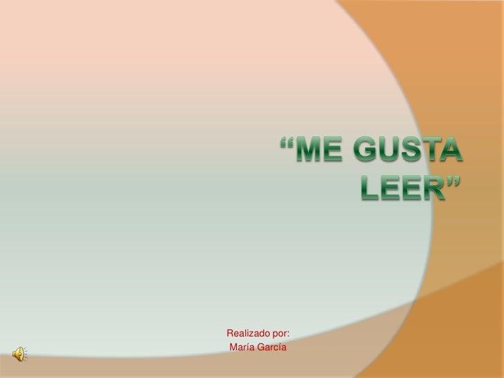 Realizado por: María García