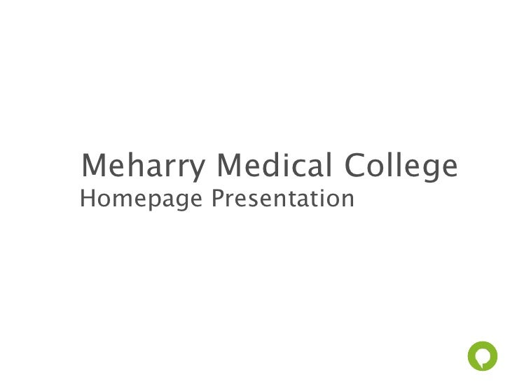 Meharry Medical CollegeHomepage Presentation                        www.paramore.is