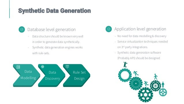 Synthetic Data Generation Database level generation - Data structure should be known very well in order to generate data s...