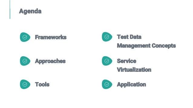 Agenda Frameworks Approaches Test Data Management Concepts Service Virtualization ApplicationTools