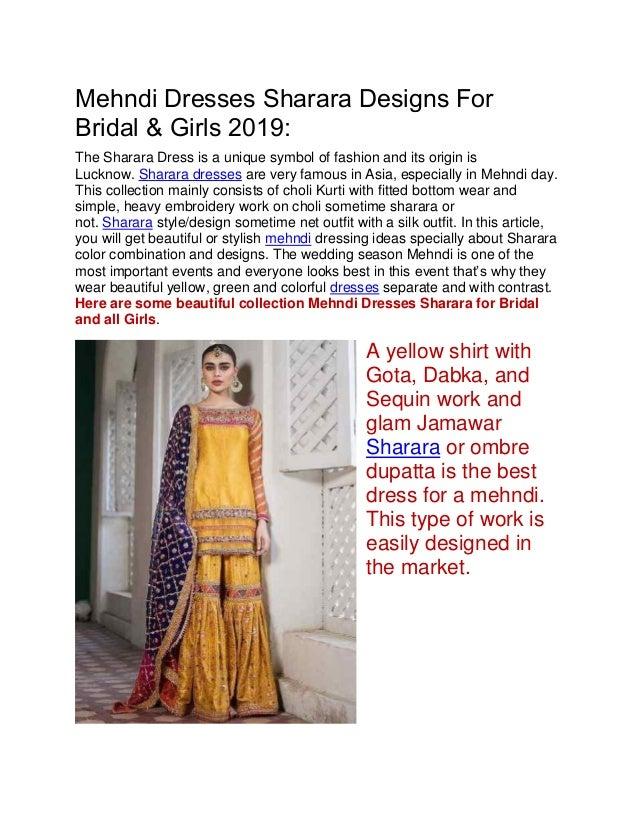Mehndi Dresses Sharara