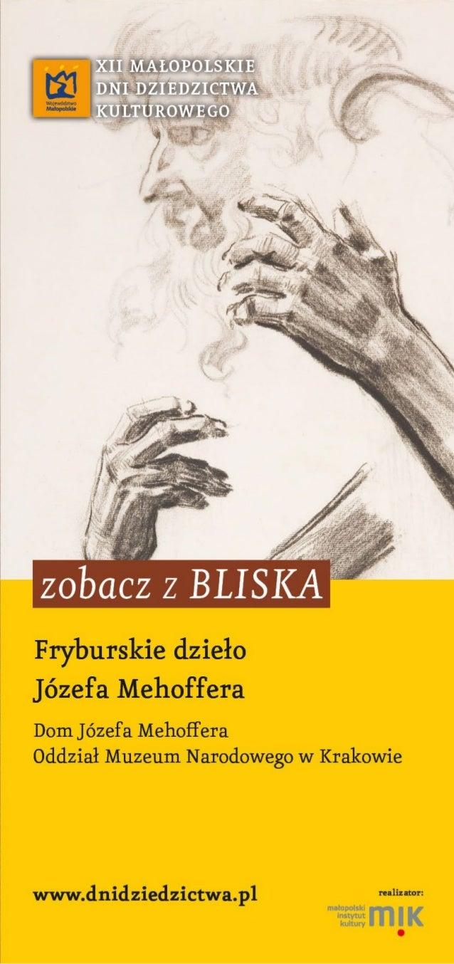 Dom J. Mehoffera (rzut parteru oraz pierwszego piętra) rys. K. Skoczek na podst.: E. Waligóra, Dom J. Mehoffera Oddział Mu...