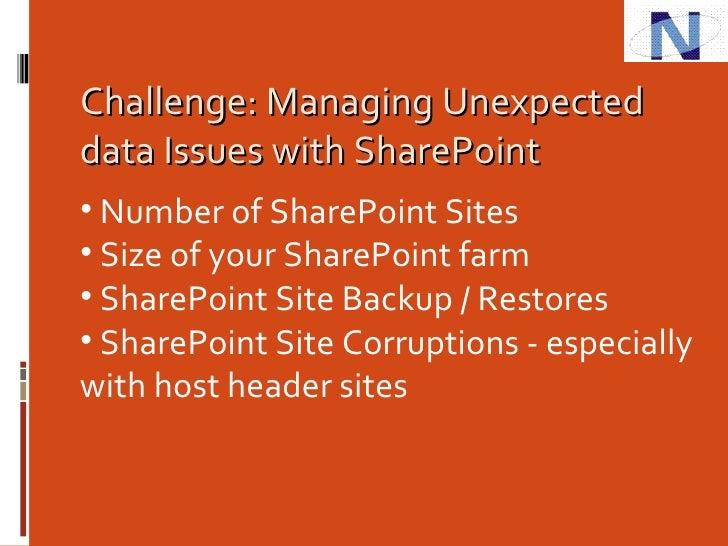 Mehta - SharePoint Data And Database Management Slide 3