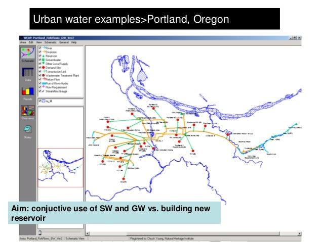 Urban water examples>Portland, OregonAim: conjuctive use of SW and GW vs. building newreservoir