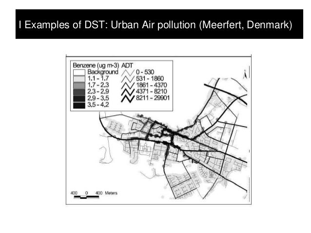 I Examples of DST: Urban Air pollution (Meerfert, Denmark)