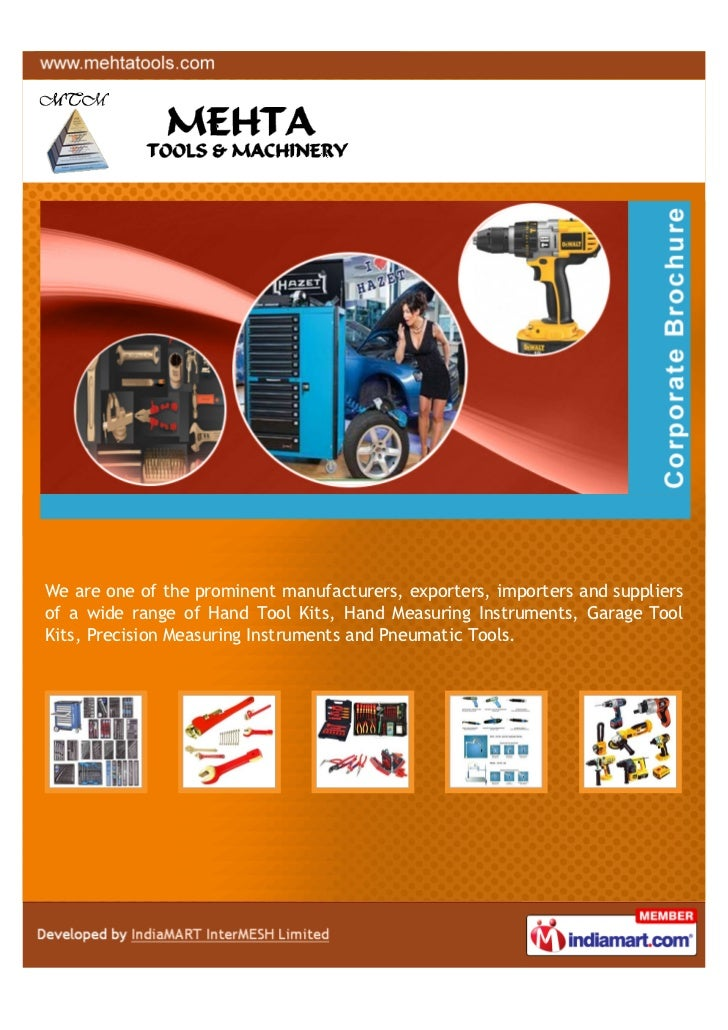 We are one of the prominent manufacturers, exporters, importers and suppliersof a wide range of Hand Tool Kits, Hand Measu...