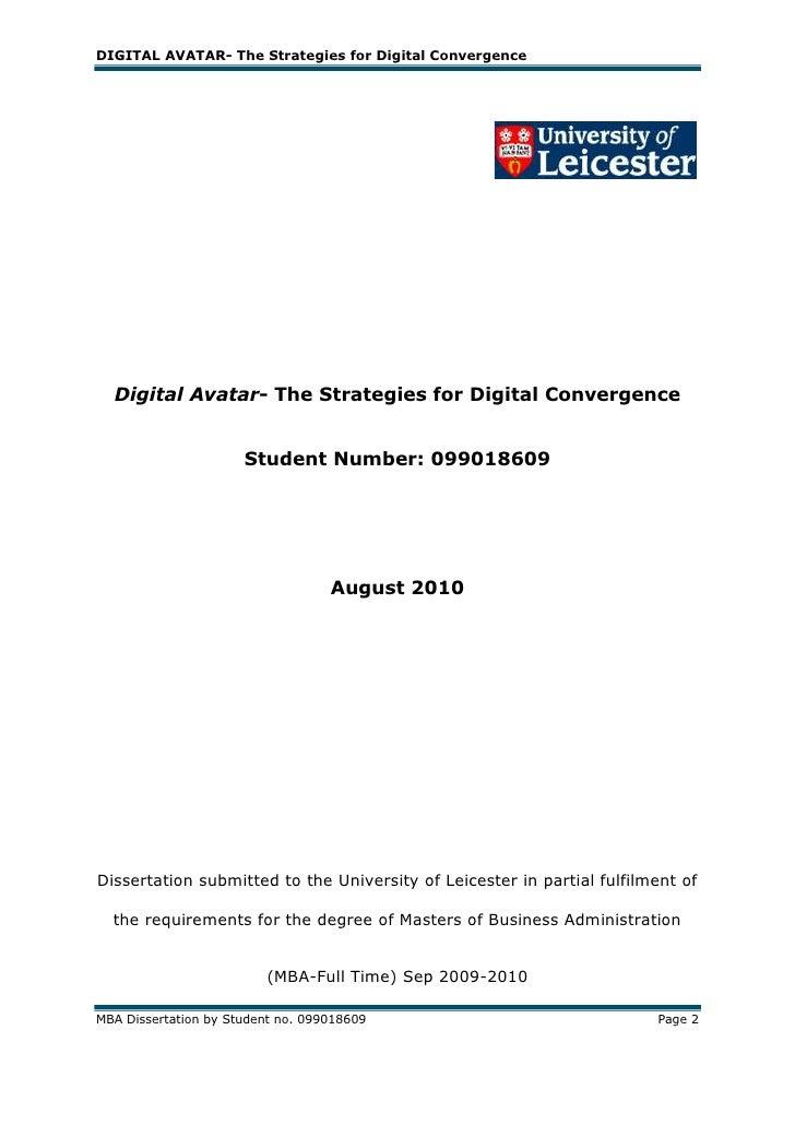 Dissertation for mba custom report