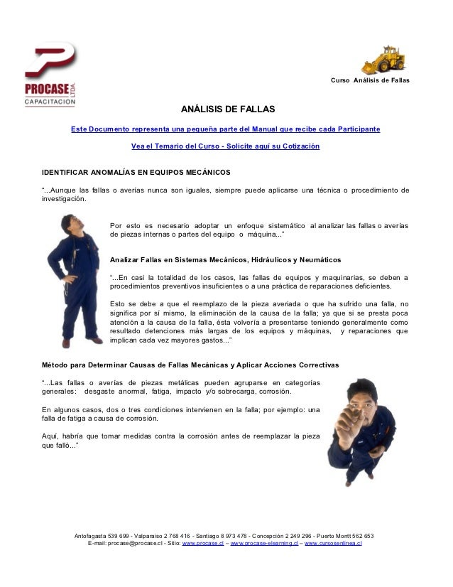Curso Análisis de Fallas                                               ANÁLISIS DE FALLAS        Este Documento representa...