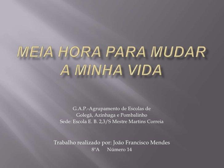 G.A.P.-Agrupamento de Escolas de         Golegã, Azinhaga e Pombalinho  Sede: Escola E. B. 2,3/S Mestre Martins CorreiaTra...