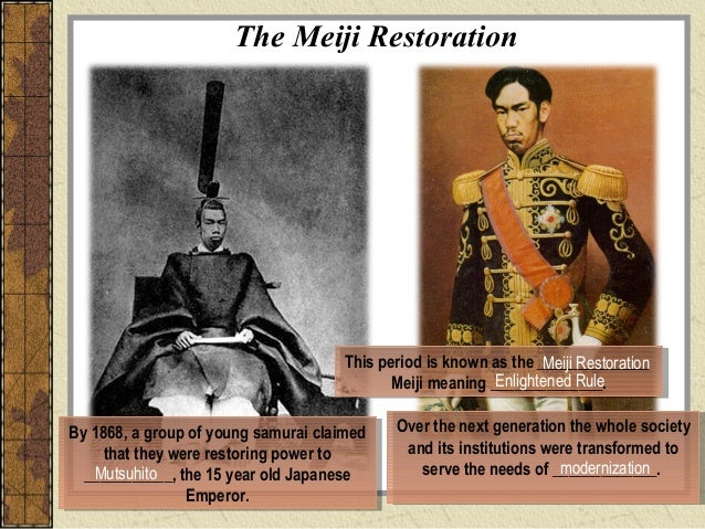 define meiji restoration