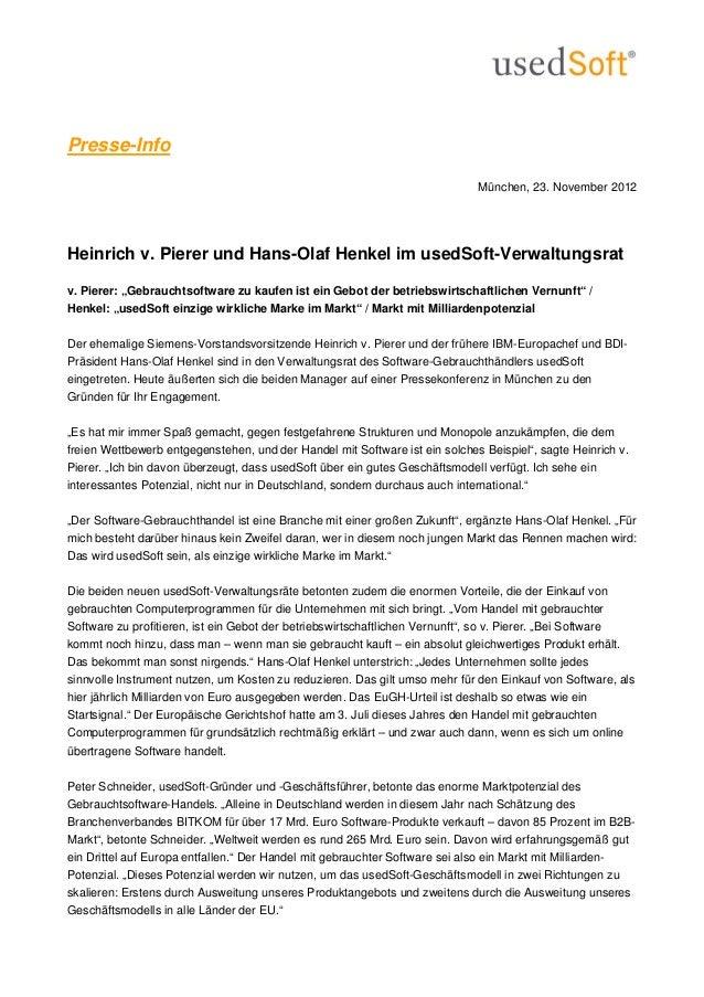 Presse-Info                                                                             München, 23. November 2012Heinrich...