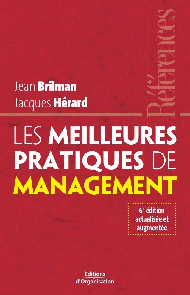 Jean Brilman  Jacques Hérard  Les meilleures  pratiques de  management  6e édition  actualisée et  augmentée