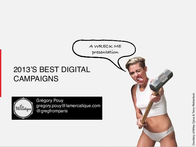 A WRECK ME! presentation!  Grégory Pouy! gregory.pouy@lamercatique.com! @gregfromparis! !  LaMercatique !  1!  Courtesy of...