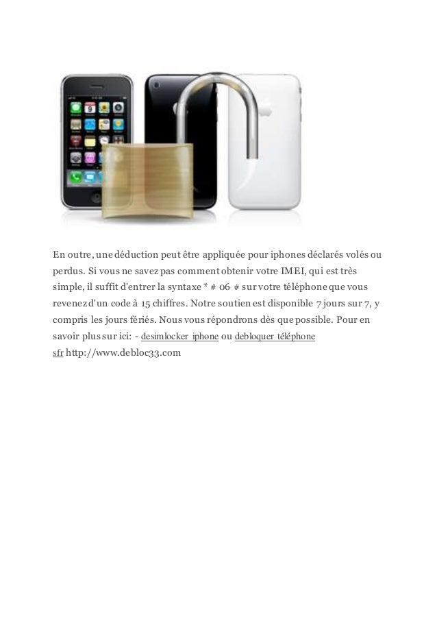 En outre, une déduction peut être appliquée pour iphones déclarés volés ou perdus. Si vous ne savez pas comment obtenir vo...