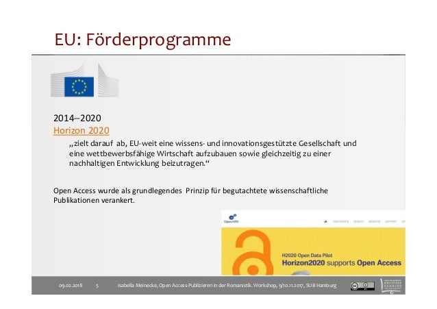 """EU: Förderprogramme 2014−2020 Horizon 2020 """"zielt darauf ab, EU-weit eine wissens- und innovationsgestützte Gesellschaft u..."""