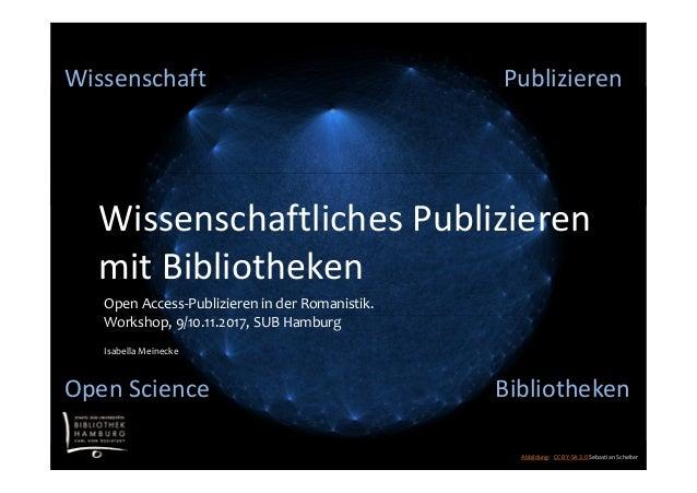 Publizieren Abbildung: CC BY-SA 3.0 Sebastian Schelter Wissenschaftliches Publizieren mit Bibliotheken Bibliotheken Publiz...
