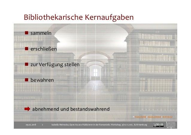 Wissenschaftliches Publizieren mit Bibliotheken Slide 2