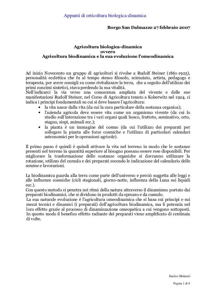 Appunti di orticoltura biologica-dinamica                                              Borgo San Dalmazzo 27 febbraio 2007...