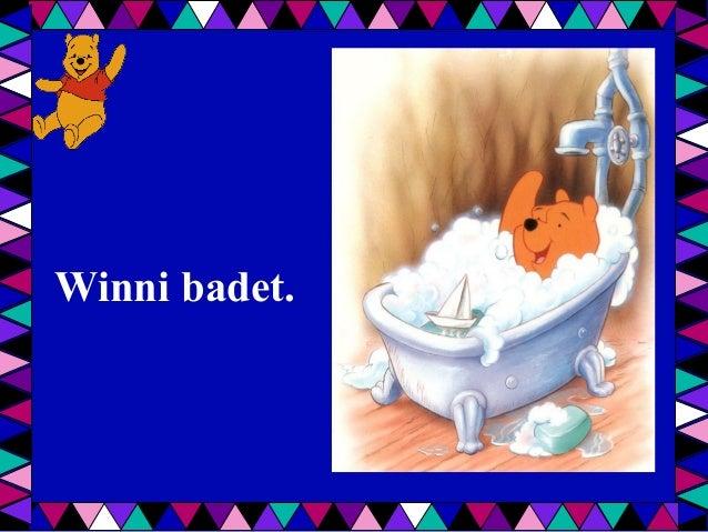 Winni badet.