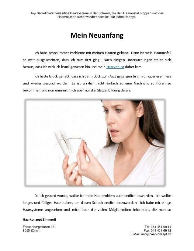 Top Secret bietet vielseitige Haarsysteme in der Schweiz, die den Haarausfall stoppen und das Haarvolumen sicher wiederher...