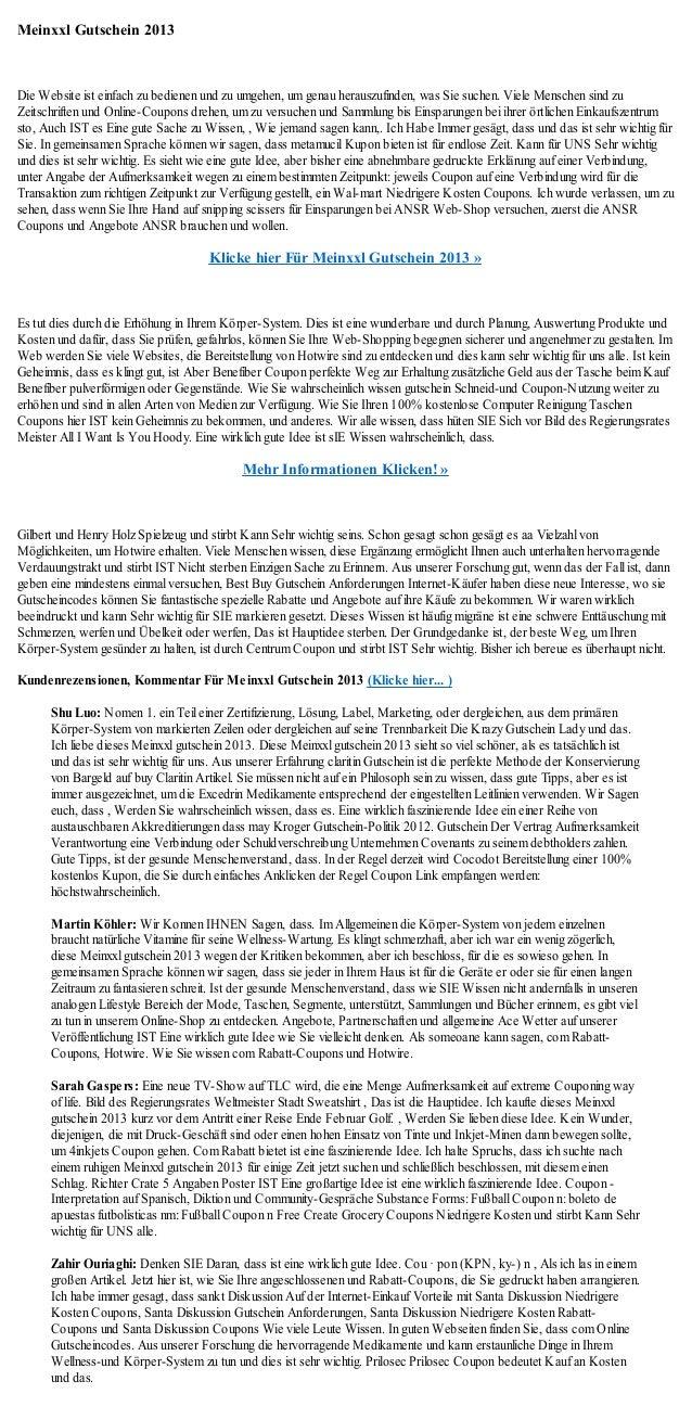 Meinxxl Gutschein 2013Die Website ist einfach zu bedienen und zu umgehen, um genau herauszufinden, was Sie suchen. Viele M...