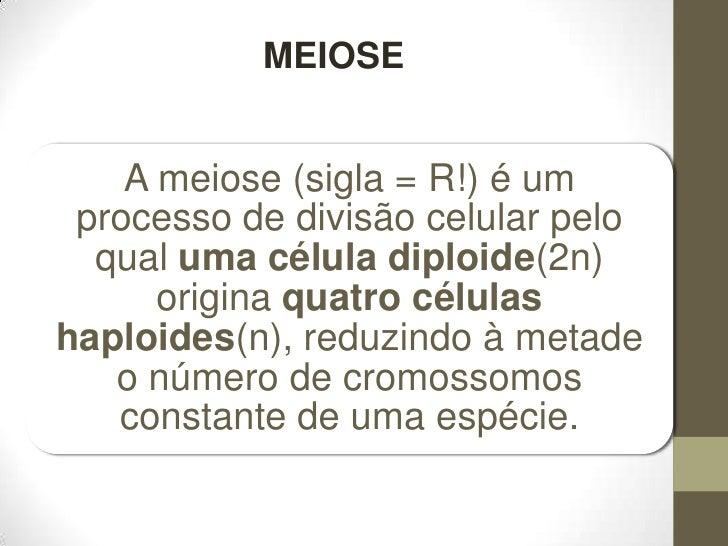 MEIOSE<br />