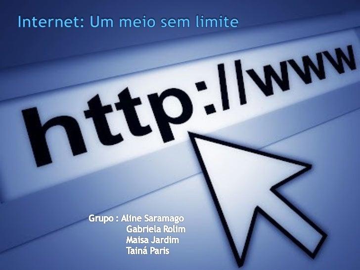 Em 1971 surgiu a ARPANETMil ( rede militar ) e CSNET ( rede cientifica )Internet na guerra fria