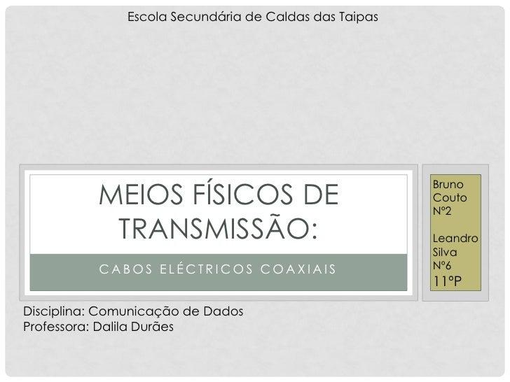 Escola Secundária de Caldas das Taipas          MEIOS FÍSICOS DE                                                        Br...