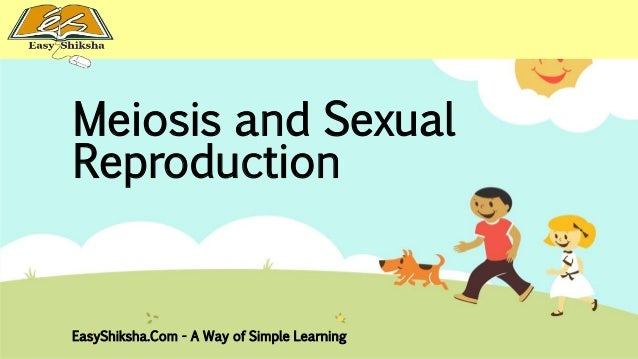 Sexual reproduction and meiosis powerpoint