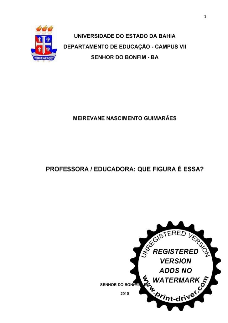Monografia Meirivane Pedagogia 2010