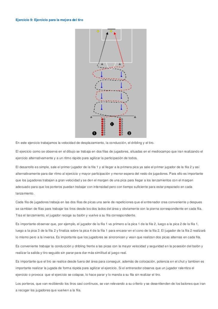 Ejercicio 9: Ejercicio para la mejora del tiroEn este ejercicio trabajamos la velocidad de desplazamiento, la conducción, ...