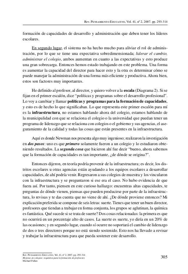Rev. Pensamiento Educativo, Vol. 41, nº 2, 2007. pp. 293-314formación de capacidades de desarrollo y administración que de...
