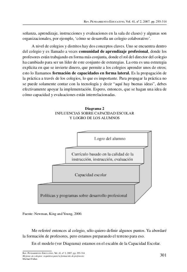 Rev. Pensamiento Educativo, Vol. 41, nº 2, 2007. pp. 293-314señanza, aprendizaje, instrucciones y evaluaciones en la sala ...