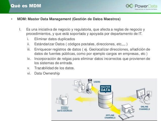 Mejore la calidad e integración de sus datos gracias al data management Slide 2