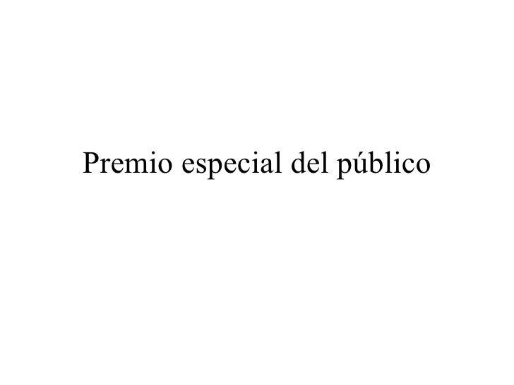Premio especial del público