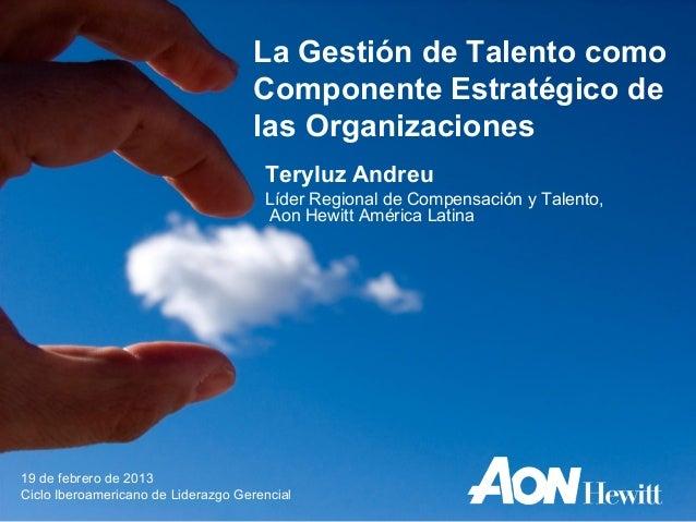La Gestión de Talento como                                    Componente Estratégico de                                   ...