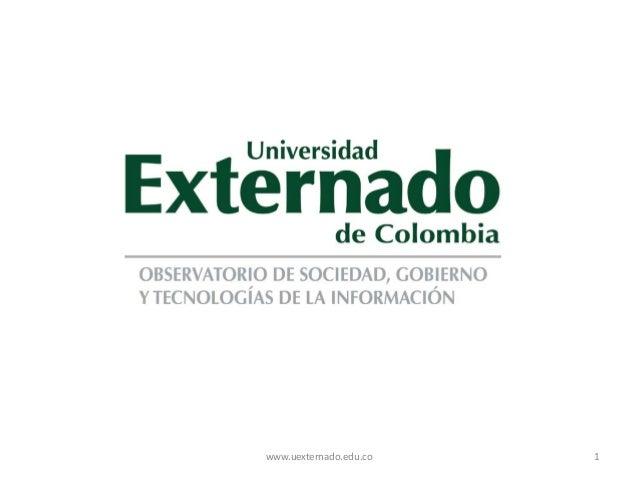 www.uexternado.edu.co   1