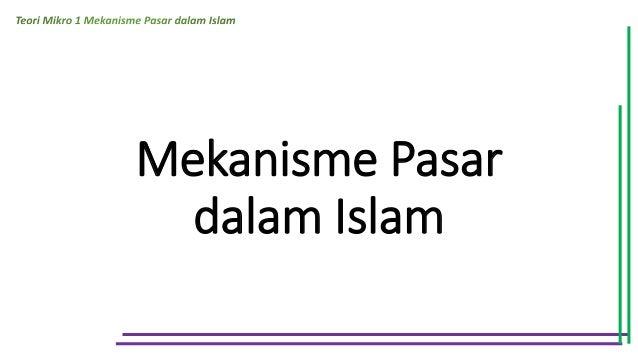 Mekanisme Pasar dalam Islam