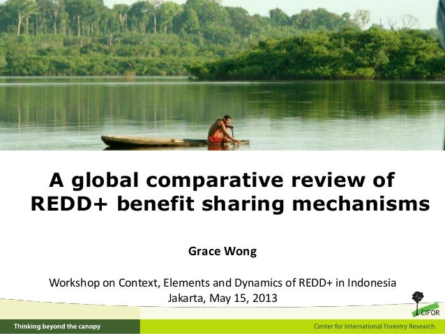A global comparative review ofREDD+ benefit sharing mechanismsGrace WongWorkshop on Context, Elements and Dynamics of REDD...