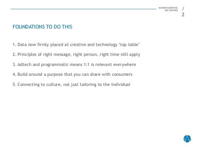 Mel Edwards - Modern Marketing Slide 2